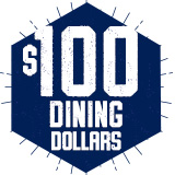 Fall Building Block Dining Dollars: $100