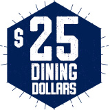 Summer Building Block Dining Dollars $25 - Summer A,B,C